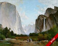 Yosemite Half Dome American Indian Painting Art 8X10 REAL CANVAS GICLEE PRINT