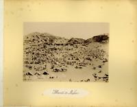 Algérie, Marché de Boghari Vintage albumen print.  Tirage albuminé  11x16