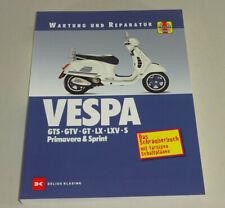 Manual Maintenance + Repair - Vespa GTS, Gtv, Gt LX , Lvx ,S, Primavera, Sprint