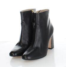 77-22 $550 Women's Sz 7.5 M Stuart Weitzman Nell Leather Chunky Heel Booties