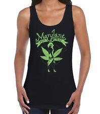 Mary Jane Cannabis Women's Vest Tank Top - Weed Spliff T-Shirt