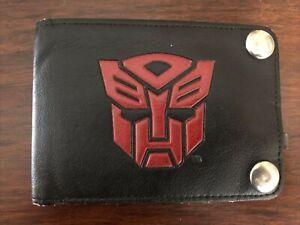 Vintage Transformers Wallet Autobot Decepticon Retro Symbols 1980's