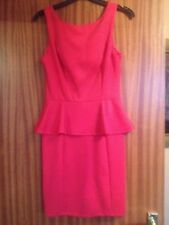 Primark red peplum dress size 10 BNWT