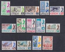 Gibraltar 1960-62 Used FU Full Set Definitives Local Scenes Birds Flowers Tower