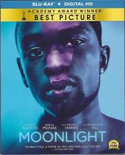 Moonlight (Blu-ray Disc, 2017, Includes Digital HD) LIKE NEW! With SLIPCOVER!
