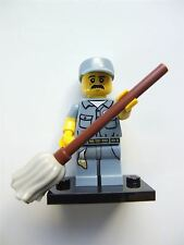 Lego Series 15 Minifigures, Janitor (Open) - 71011