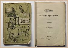 Sterne Album unfreiwilliger Komik 1875 Humor Schreibfehler Situationskomik xz