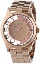 Marc By Marc Jacobs MBM3207 Henry Skeleton Rose Gold Steel Watch 0353