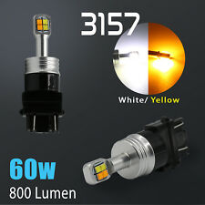 2018 New CREE 3157 White/Amber Dual Color Switchback LED Turn Signal Light Bulbs