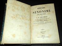 Bibliografia S. P. Zecchini - Dizionario Sinonimi della Lingua Italiana ed. 1860
