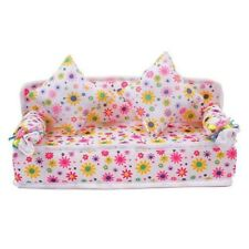 DIY Toys Mini Furniture Sofa Couch+2 Cushion For Barbie Doll House Accessories