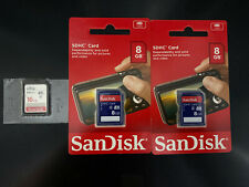 San Disk (2) 8 Gb  And  (1) 16 Gb Sd  Sdhc Card Lot (3)