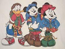 Vintage Disney Mickey Minnie Mouse Donald Duck Rap Hip Hop Music T Shirt XL