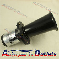 BLACK 12 VOLT OLD FASHION CAR HORN  AHOOGA ANTIQUE VINTAGE STYLE  HOT ROD KLAXON