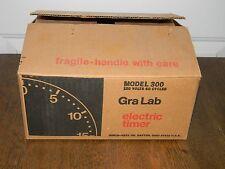Vtg GRALAB 60 Minute Darkroom Timer Model 300 Gra-Lab NOS New Old Stock Unused