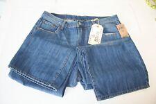 Lucky Brand Men's Blue Jeans Slight Bootleg 181 Classic 34 Long Mid-Rise