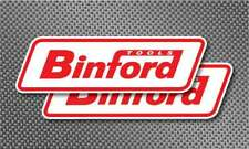 "2x Binford Tools 8"" Red Sticker Decals Bumper Toolbox Truck Home Improvement Tv"