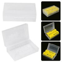 2PCS 2 x 20700 21700 Battery Box Plastic Storage Case Holder Organizer Container
