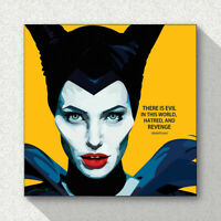 Maleficent Art Printed on Acrylic Frame Print Wall Poster Painting 25cm Track#