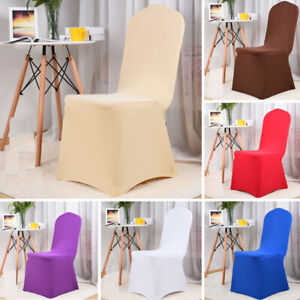 Spandex Chair Cover Wedding Dining Banquet Party Seat Covers Slipcover Stretch