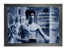 Bruce Lee 54 Hong Kong American Actor Film Director Martial Arts Quote Poster