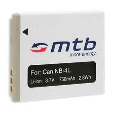 Batería NB-4L para Canon IXUS 30, 40, 50, 55, 60, 65, 70, 75, 80 IS, 100 IS