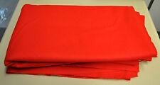 RED WOOL MELTON CLOTH PER METRE