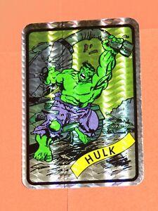 1990 MARVEL UNIVERSE SERIES 1 VENDING MACHINE PRISM STICKER #3 GREEN HULK!