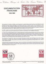 Document Philatélique Timbre 1er Jour : 16/11/ 1985 - Documentation Française