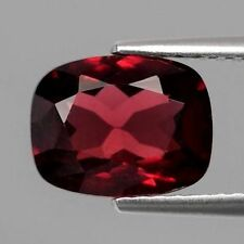 2.65 CT CUSHION CUT NATURAL PURPLISH RED RHODOLITE GARNET, UNHEATED/UNTREATED