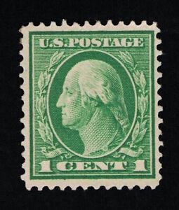 GENUINE SCOTT #405 VF MINT OG H 1912 GREEN PERF-12 SL-WATERMARKED #7017