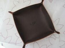 Leather Catch All Personalized Leather Tray Custom Engraved Leather Valet Tray