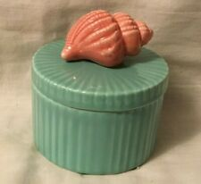 Fitz and Floyd Trinket Box Round with Shell Seashell on Top