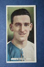 Blackburn Rovers Bruton ORIGINALE 1934 vintage colore CALCIATORE CARD
