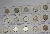 UK GB 10 PENCE COLLECTION - 15 COINS LOT B18 CM9 - 7