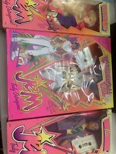 Jem and the Holograms Rock 'n' Curl Jem Rio And Glitter N Gold Rio Damaged Boxes