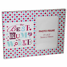 """Best Mum in the World"" Photo Frame - Mother's Day / Birthday"