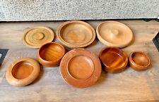 Large Wooden Bowl/ Plate Bundle- Fruit Bowls- Traditional Banquet- Light/ Dark