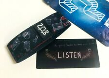 ZOX **LISTEN** Silver Strap med Wristband w/Card New Mystery Pack
