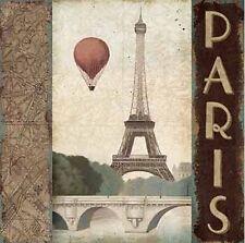 Marco Fabiano: City Skyline Paris Vintage Square Fertig-Bild 45x45 Wandbild