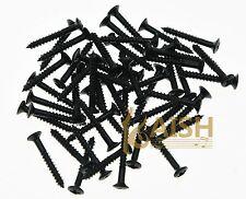 100 pcs Black Humbucker Pickup Ring Screws LP Pickup Frame Surrounds Screws