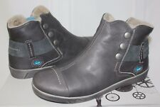 CLOUD Aline sneaker wool-line booties Dark Grey Leather NEW WITH BOX!