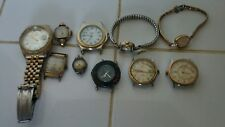 10 Antique Vintage Watches Watch Working Parts Repair Lot Elgin Monarch +moreSps