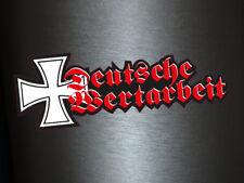 1 x Aufkleber Deutsche Wertarbeit Eisernes Kreuz Deutsch German Work Sticker NEU