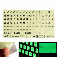 English US Keyboard Fluorescent Sticker Black Letters for Computer Laptop  Hc