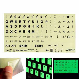 English US Keyboard Fluorescent Sticker Black Letters for Computer Laptop ycy ou