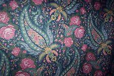 "Laura Ashley Portobello pink roses single curtain 86""d x 40""w rod pocket top"