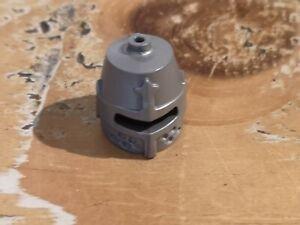 Lego 89520 (x1) Flat Silver Minifigure Headgear, Helmet Castle Eye Slit