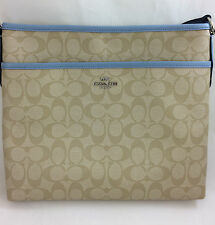 New Coach F58297 F34938 File Bag Messenger Crossbody Bag Purse Handbag Pool Blue