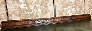 Three godron groove wood carving pediment antique french archiectural salvage